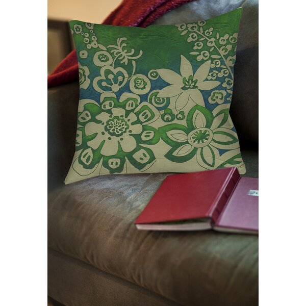 Kyoto Garden 2 Printed Throw Pillow by Manual Woodworkers & Weavers