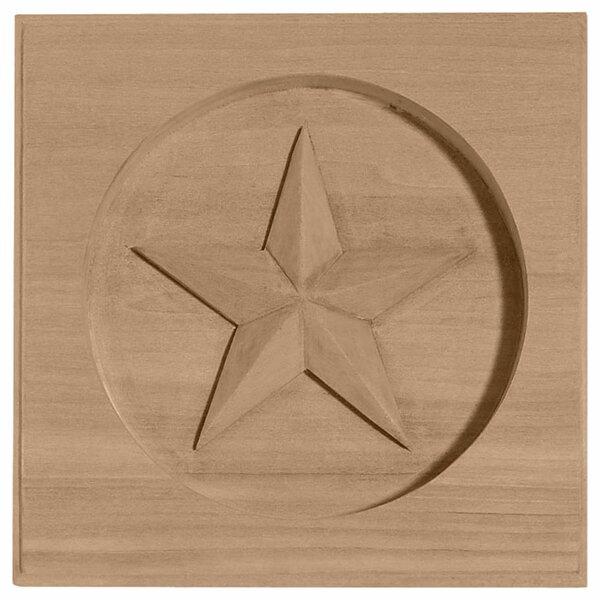 Austin 4 1/4H x 4 1/4W x 3/4D Star Rosette by Ekena Millwork