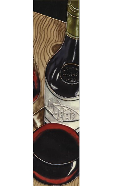 Wine Painting Tile Wall Decor by Continental Art Center