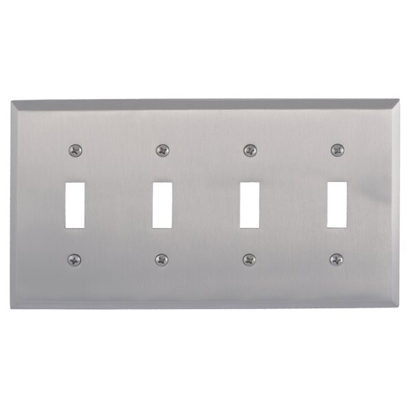 Quaker Quad Switch Plate by BRASS Accents