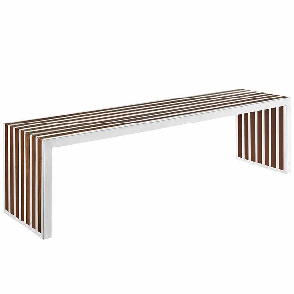 Hauer Wood Bench by Orren Ellis