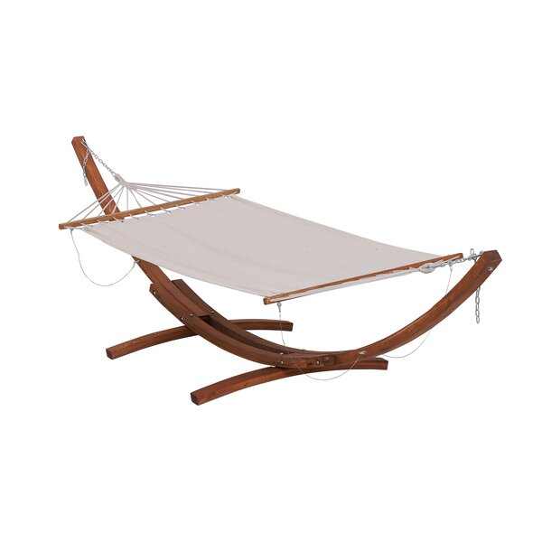 Gadson Arc Patio Cotton Chair Hammock with Stand by Brayden Studio Brayden Studio