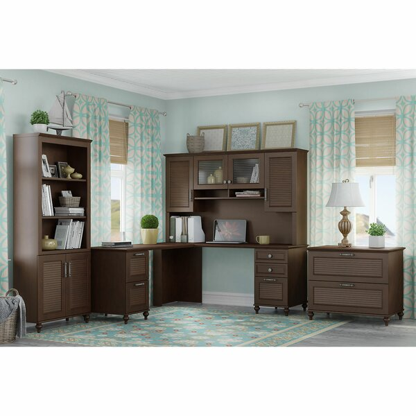 Volcano Dusk 4 Piece Desk Office Suite by Kathy Ireland Office by Bush