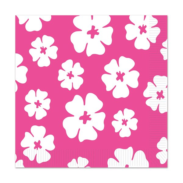 Hibiscus Luncheon Napkin (Set of 12) by The Beistle Company