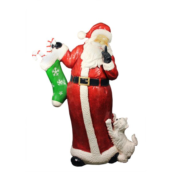 48.5 Commercial Size Santa Claus with Puppy Dog Christmas Display Decoration by Northlight Seasonal