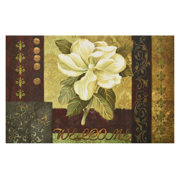 Zadie Magnolia Doormat by Fleur De Lis Living