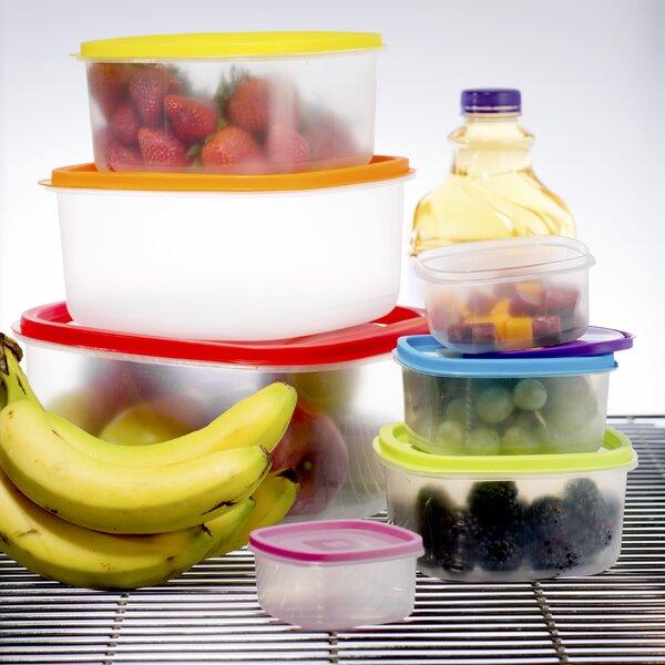 Wayfair Basics Plastic 14 Container Food Storage Set by Wayfair Basics™