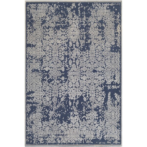 Barclee Distressed Dark Blue/Gray Area Rug by House of Hampton