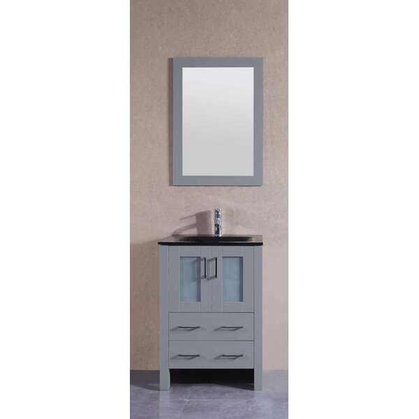 @ Acclaim 24 Single Bathroom Vanity Set with Mirror by Bosconi| #$1,139.00!