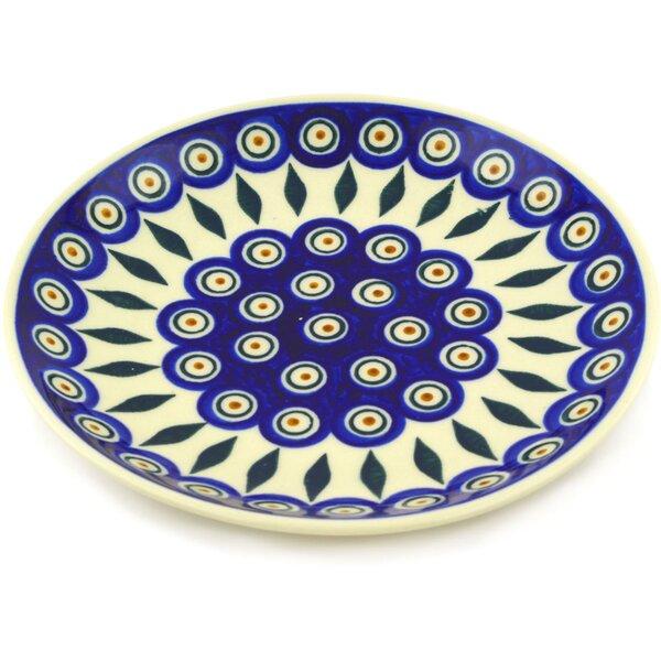 Peacock Polish Pottery Decorative Plate by Polmedia