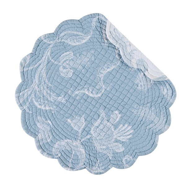 Eliza Lace Reversible Round Placemat (Set of 6) by C&F Home