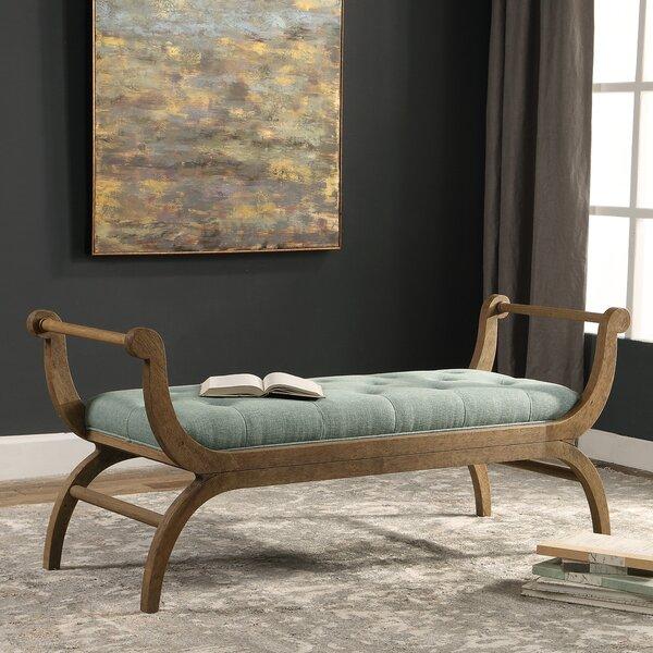 Skye Scroll Wood Bench by One Allium Way