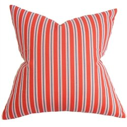 Nouvel Stripe Cotton Throw Pillow by The Pillow Collection