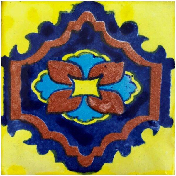 Madrid 4 x 4 Ceramic Talavera Decorative Accent Tile (Set of 90) by Rustico Tile & Stone