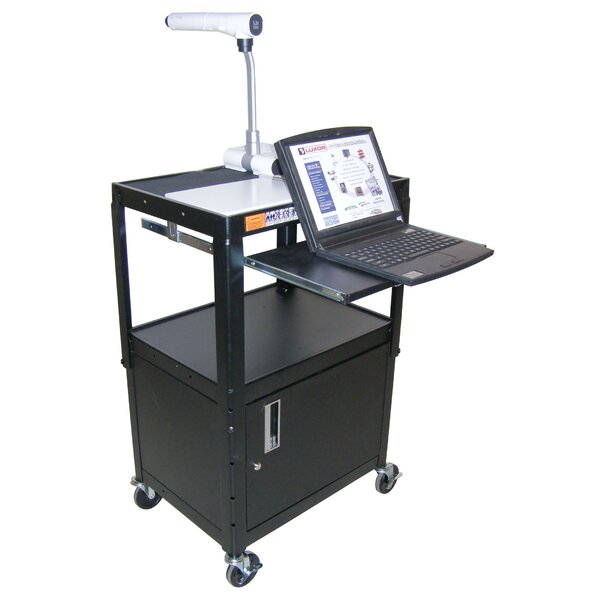 Adjustable Height Workstation AV Cart by Luxor