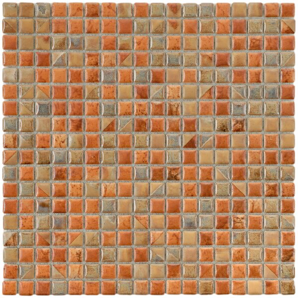 Arcadia 0.56 x 0.56 Porcelain Mosaic Tile in Tundra Beige by EliteTile
