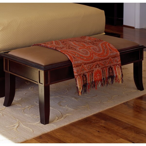 Temple Fabric Bench by Canora Grey