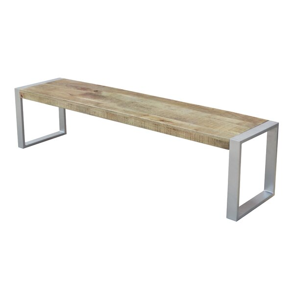 Alessia Wood Bench by Millwood Pines Millwood Pines