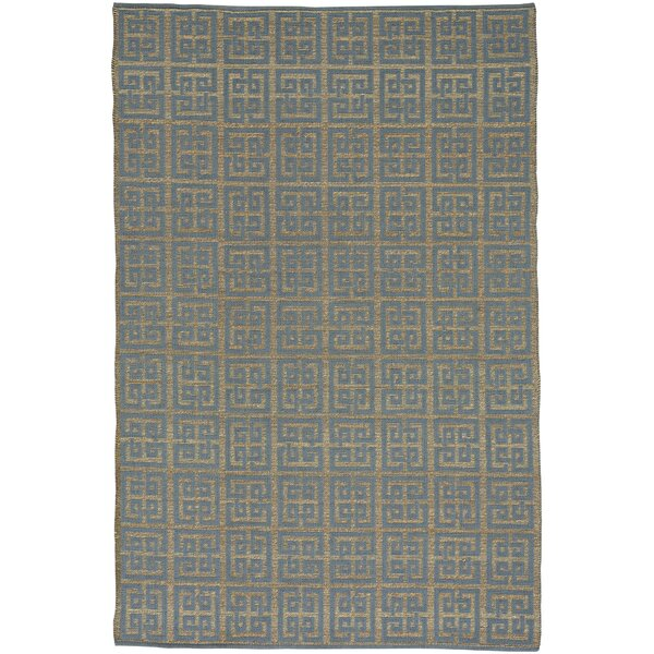 Maci Flat Blue/Brown Area Rug by Ivy Bronx