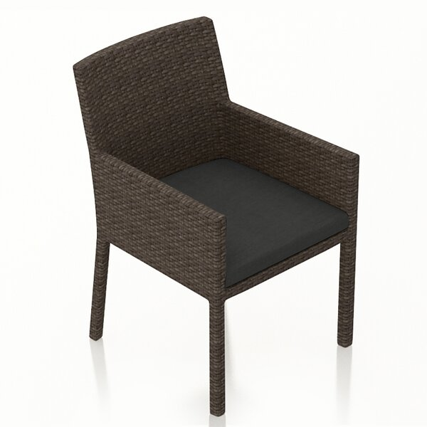 Hodge Patio Dining Chair with Cushion by Rosecliff Heights