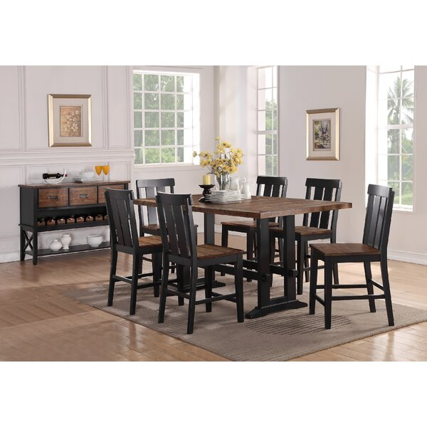Gracie Oaks Goodman 7 Piece Counter Height Dining Set U0026 Reviews | Wayfair