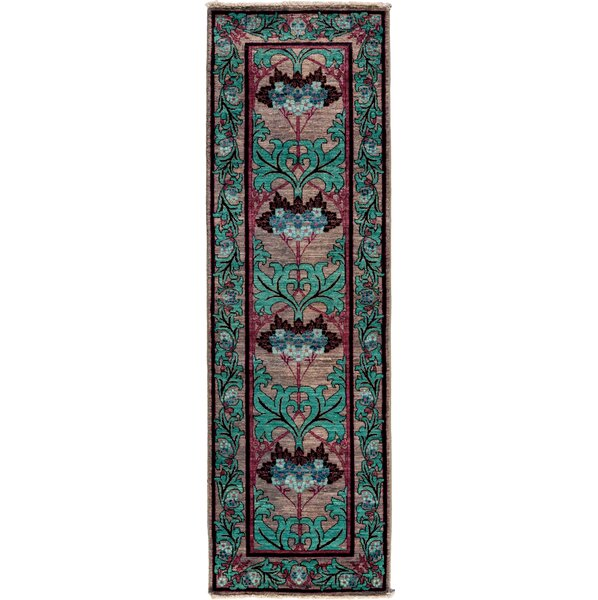 One-of-a-Kind Arts and Crafts Hand-Knotted Green Area Rug by Solo Rugs