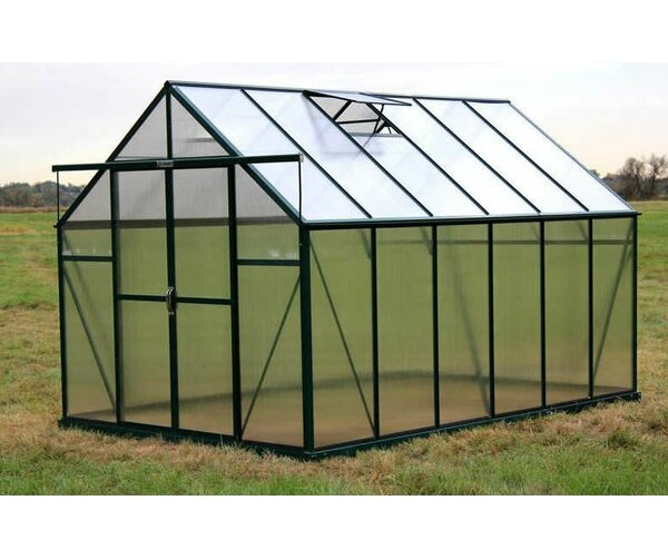 Ascent Heavy-Duty Aluminum 8 Ft. W x 12 Ft. Greenhouse by Grandio Greenhouses