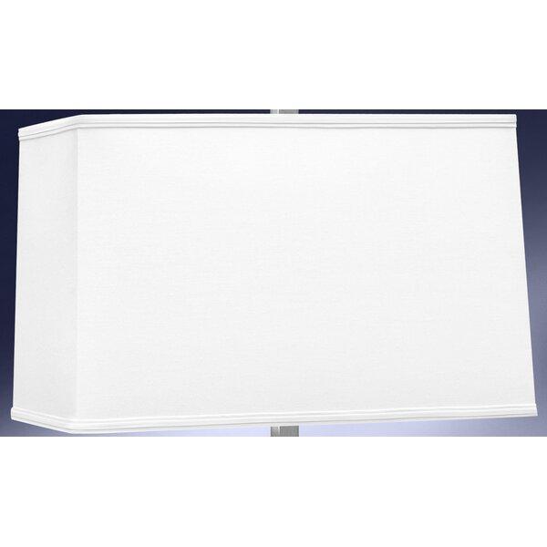 9.5 H x 9 W Linen Rectangular Lamp Shade ( Spider ) in White