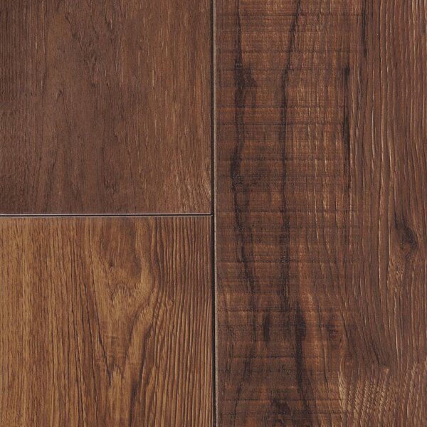 Restoration 6'' x 51'' x 12mm Hickory Laminate Flooring in Leather by Mannington