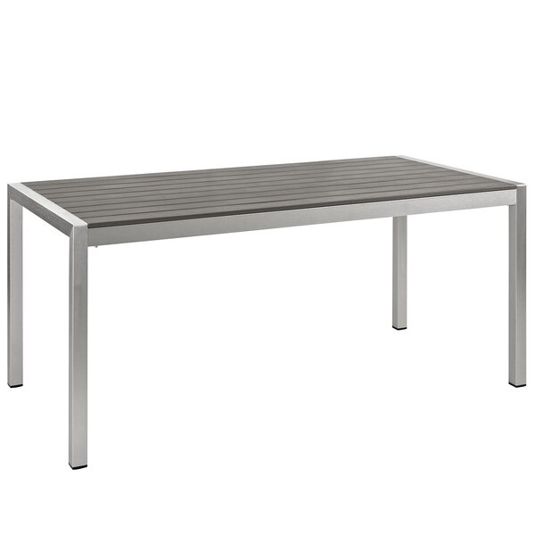 Coline Outdoor Metal Patio Dining Table by Orren Ellis