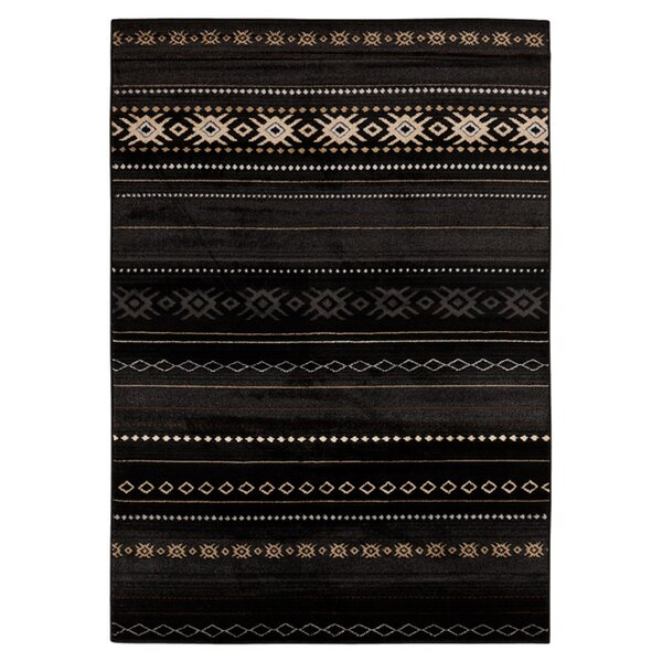 Haworth Black Area Rug by Loon Peak