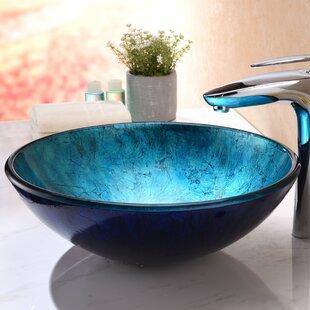 Great Price Arc Glass Circular Vessel Bathroom Sink By ANZZI