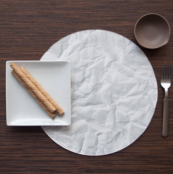 Bianco Brillare Carta Placemat (Set of 4) by Victoria Lekach