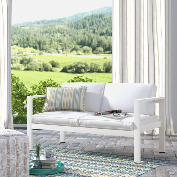 Karen Loveseat with Cushions by Rosecliff Heights