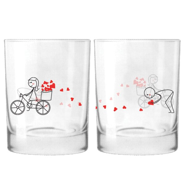 All My Love for You Couple 12 oz. Drinking Glass (Set of 2) by BoldLoft