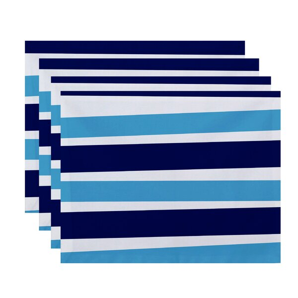 Stripe Print Placemat (Set of 4) by The Holiday Aisle