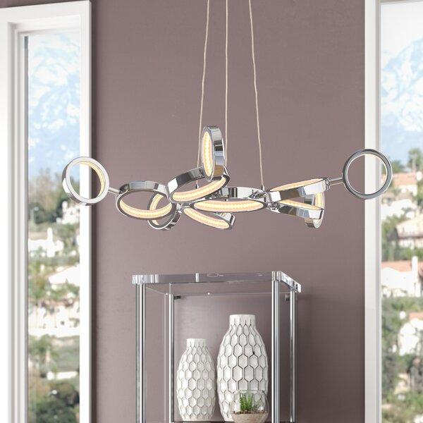 Kincannon 11 - Light Sputnik Modern Linear LED Chandelier by Orren Ellis Orren Ellis