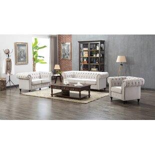 Waltraud 3 Piece Living Room Set by Charlton Home®
