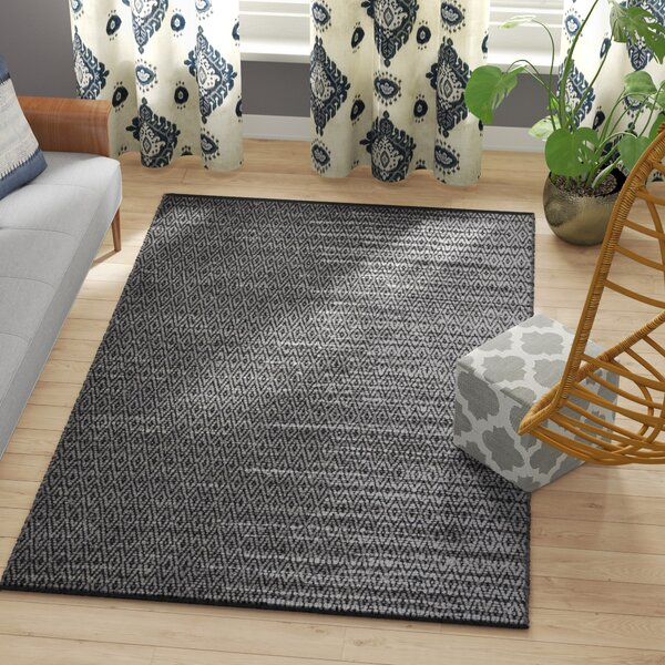 Swayze Hand-Woven Light Grey/Grey Area Rug by Mistana