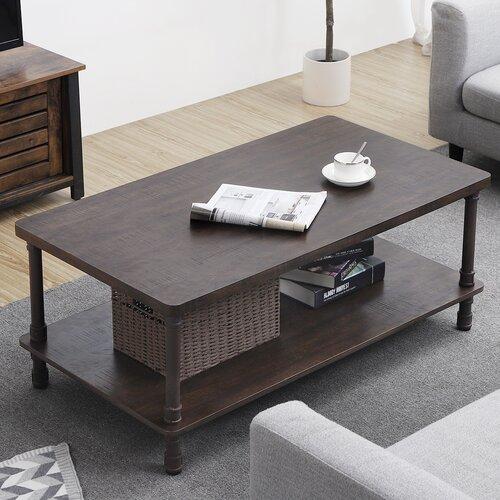 Williston Forge Ortegon Industrial Coffee Table Reviews Wayfair
