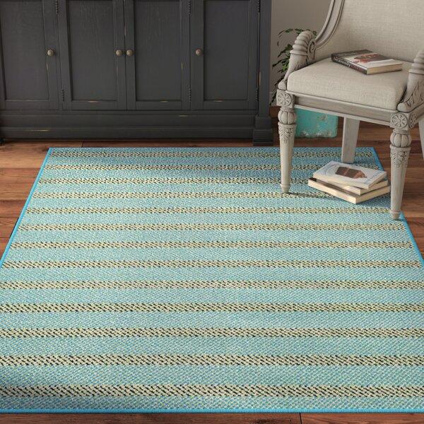Carson Striped Blue/Black Indoor/Outdoor Area Rug