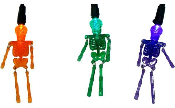20 Light Skeleton Halloween Light String by Sienna Lighting