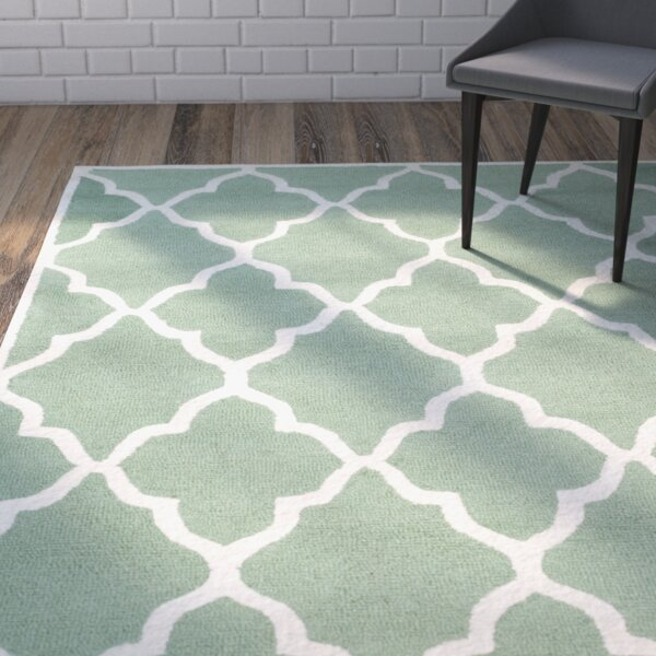 Charlenne Hand-Tufted Teal/Ivory Area Rug by Zipcode Design