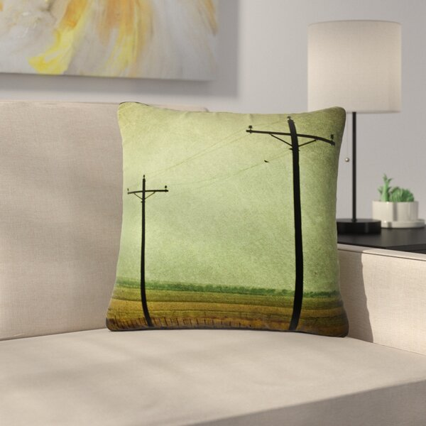 Sylvia Coomes Electric Digital Outdoor Throw Pillow by East Urban Home