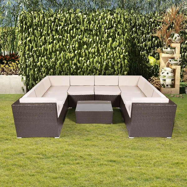 Crugers 9 Piece Sectional Seating Group with Cushions by Ebern Designs