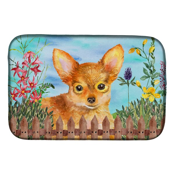Toy Terrier Spring Dish Drying Mat by Caroline's Treasures