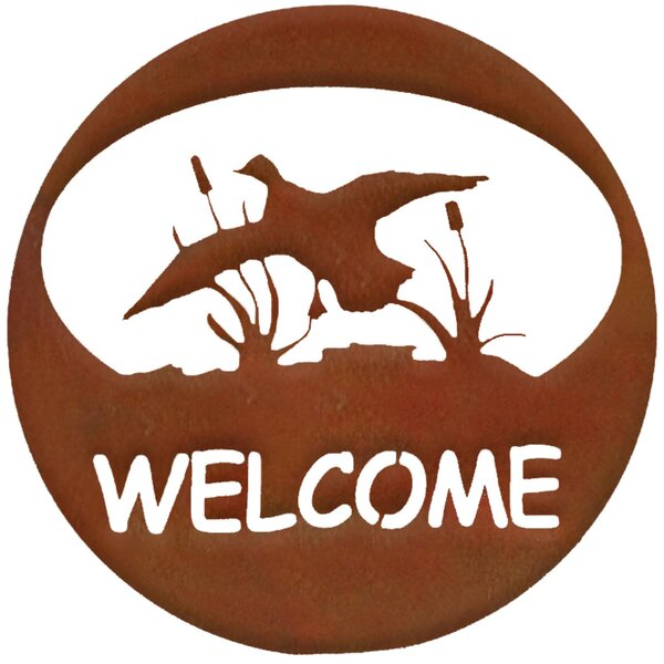 Duck Welcome Circle Wall Décor by 7055 Inc