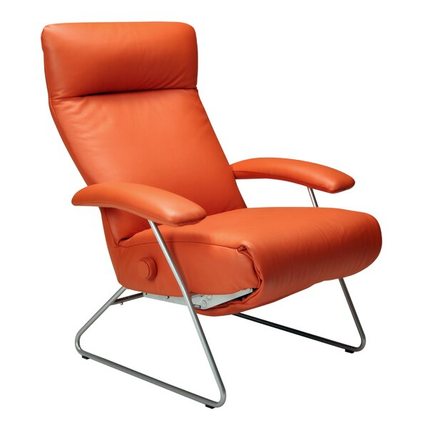 Demi Leather Manual Recliner By Lafer
