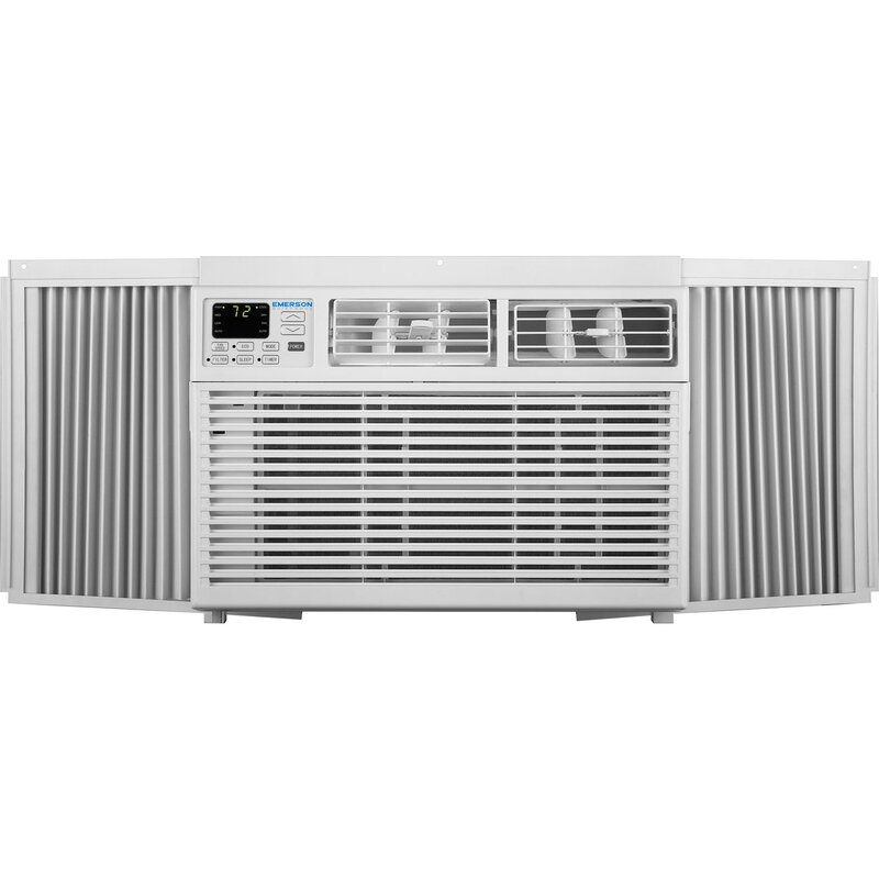 Emerson quiet kool 8 000 btu window air conditioner with for 12 x 19 window air conditioner