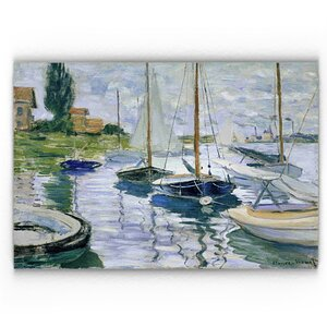 'Barques Au Repos' Print on Wrapped Canvas by Longshore Tides